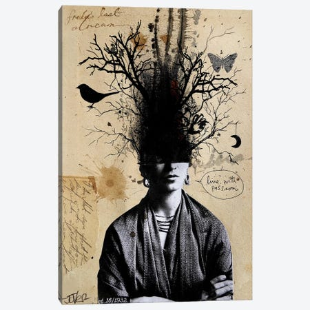 Frida's Last Dream Canvas Print #LJR48} by Loui Jover Canvas Art