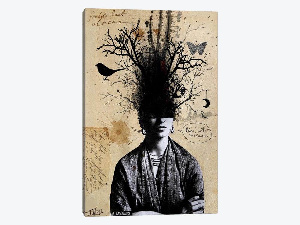 Frida's Last Dream by Loui Jover 1-piece Canvas Art Print