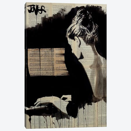 Hey Sonata Canvas Print #LJR49} by Loui Jover Canvas Wall Art