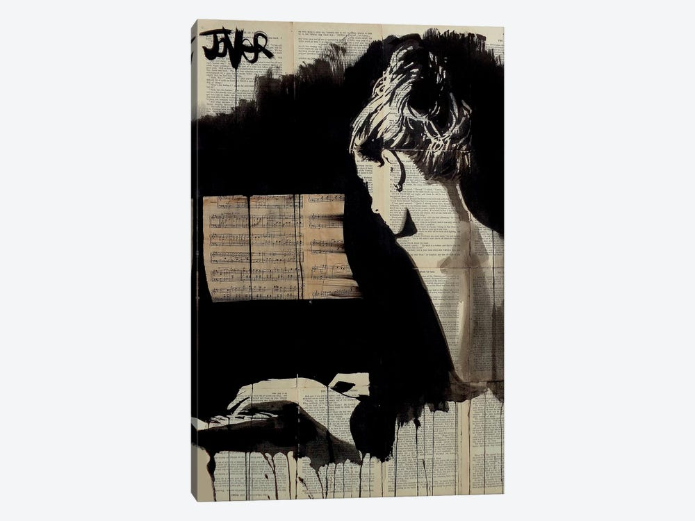 Hey Sonata by Loui Jover 1-piece Canvas Artwork