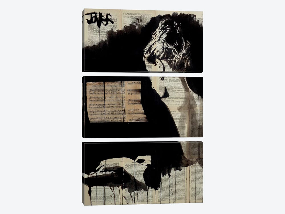 Hey Sonata by Loui Jover 3-piece Canvas Artwork