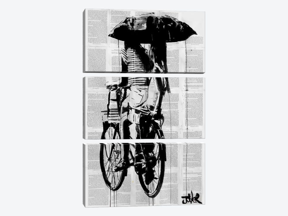 Days Like These by Loui Jover 3-piece Canvas Print
