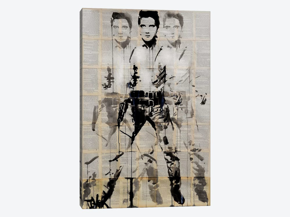 Elvis After Andy by Loui Jover 1-piece Canvas Art