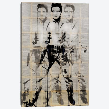 Elvis After Andy Canvas Print #LJR52} by Loui Jover Art Print
