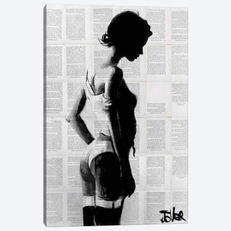 Fille Canvas Print #LJR54} by Loui Jover Canvas Art
