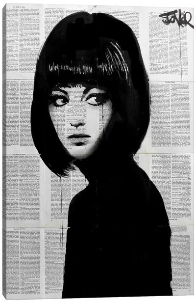 Girl In Black Canvas Print #LJR57