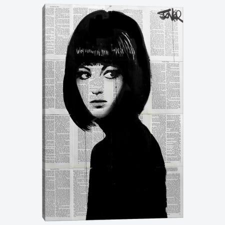 Girl In Black Canvas Print #LJR57} by Loui Jover Canvas Art