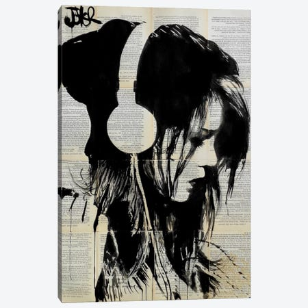 Melodies Solace Canvas Print #LJR64} by Loui Jover Art Print