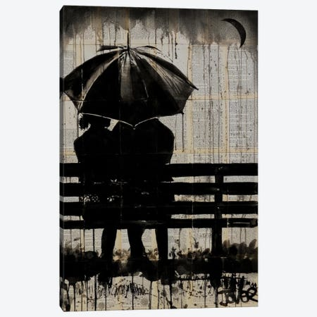 Moments Under The Crescent Moon Canvas Print #LJR66} by Loui Jover Canvas Print