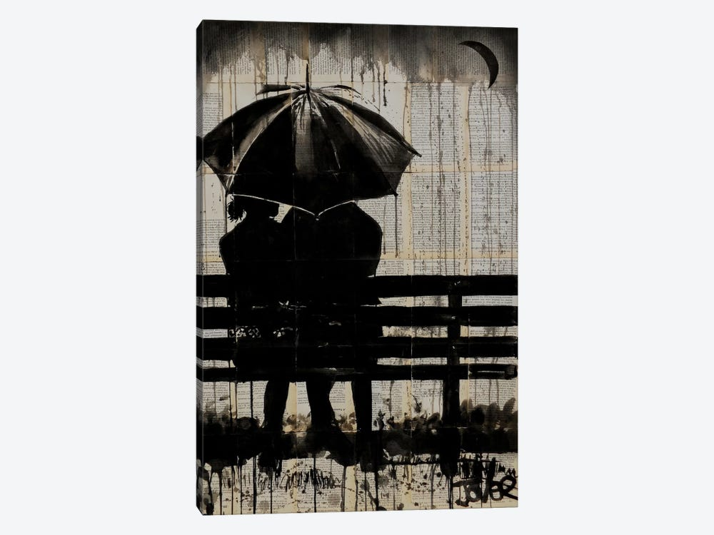 Moments Under The Crescent Moon by Loui Jover 1-piece Canvas Art Print