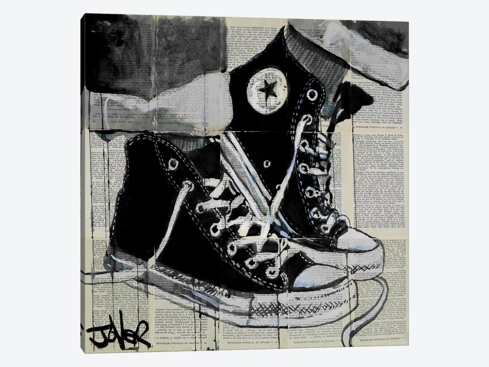 Never A Frown by Loui Jover 1-piece Canvas Art