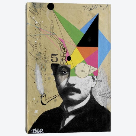 Einstein For The Lateral Thinker Canvas Print #LJR6} by Loui Jover Art Print