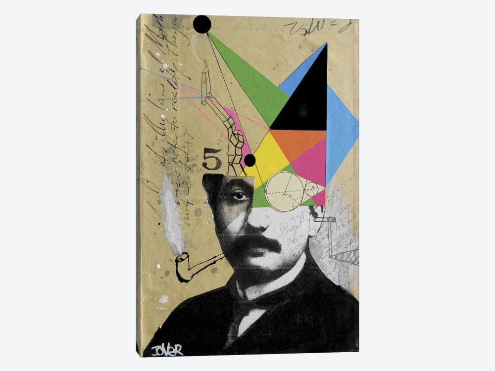 Einstein For The Lateral Thinker by Loui Jover 1-piece Canvas Art
