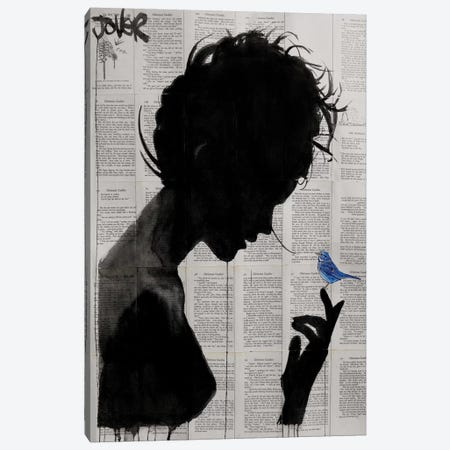 Poetica Canvas Print #LJR71} by Loui Jover Canvas Print