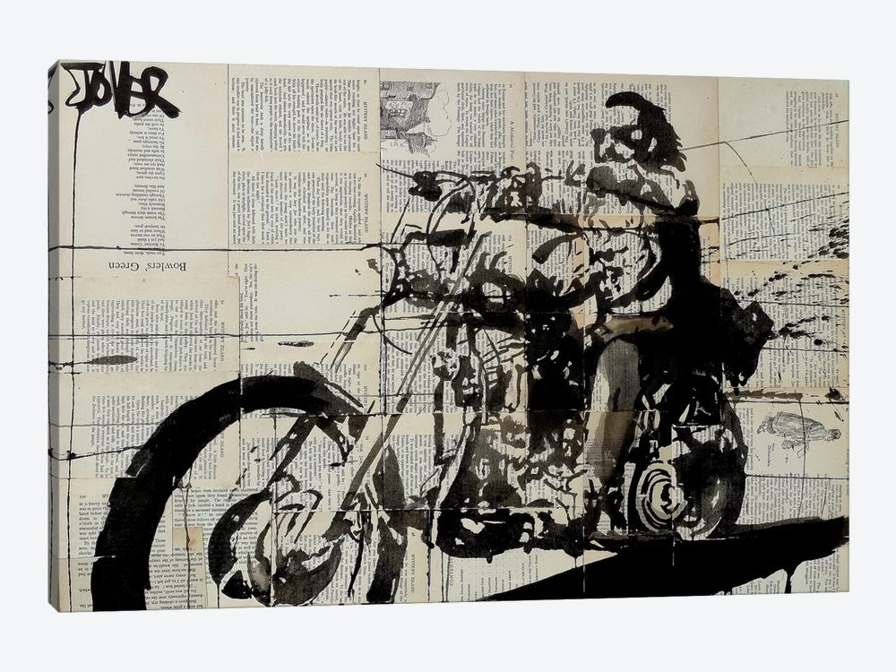Rider by Loui Jover 1-piece Canvas Wall Art