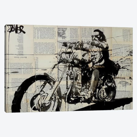 Rider Canvas Print #LJR72} by Loui Jover Canvas Print