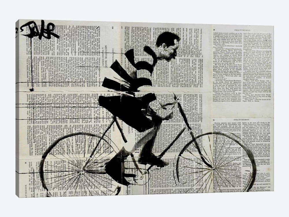 The Rider by Loui Jover 1-piece Canvas Artwork