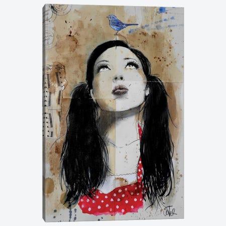 Tweeting Canvas Print #LJR81} by Loui Jover Canvas Wall Art