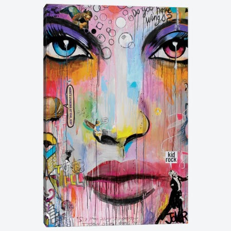 Wings Canvas Print #LJR85} by Loui Jover Art Print
