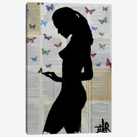 Butterflies Canvas Print #LJR90} by Loui Jover Canvas Art Print