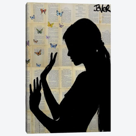 Butterfly Days Canvas Print #LJR91} by Loui Jover Art Print