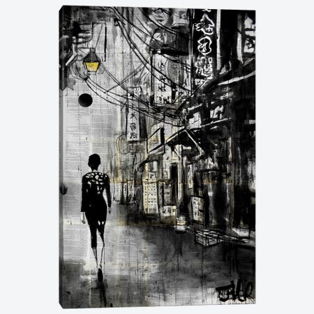 Chinatown Walk Canvas Print #LJR94} by Loui Jover Canvas Artwork