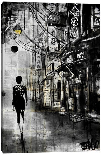 Chinatown Walk Canvas Art Print
