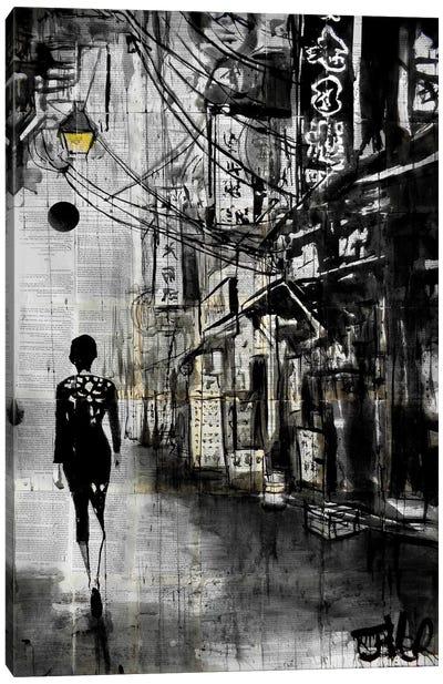 Chinatown Walk Canvas Print #LJR94