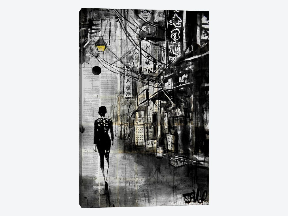 Chinatown Walk by Loui Jover 1-piece Canvas Wall Art