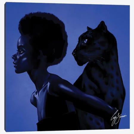 Panther Canvas Print #LJS12} by Laji Sanusi Canvas Artwork