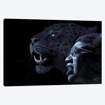 The Panther and The Messiah Canvas Print #LJS8} by Laji Sanusi Canvas Print