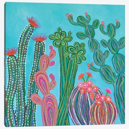 Cactus Party II 3-Piece Canvas #LJU10} by Lisa Frances Judd Canvas Art