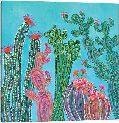 Cactus Party II Canvas Art Print