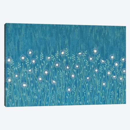 Dandelions On Blue  Canvas Print #LJU14} by Lisa Frances Judd Canvas Art Print