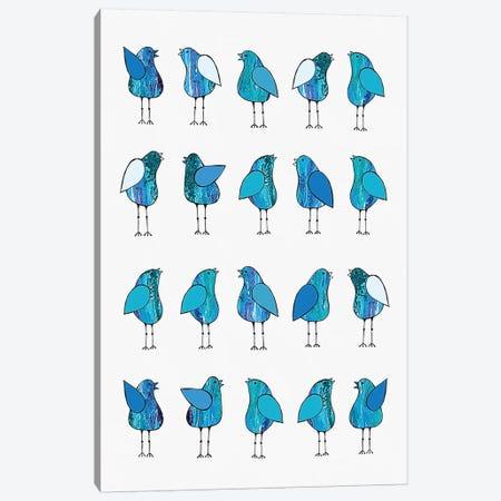 Gossip Birds Blue  Canvas Print #LJU22} by Lisa Frances Judd Canvas Art Print