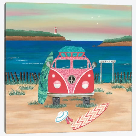 Hippy Van Road Trip  Canvas Print #LJU28} by Lisa Frances Judd Canvas Art Print