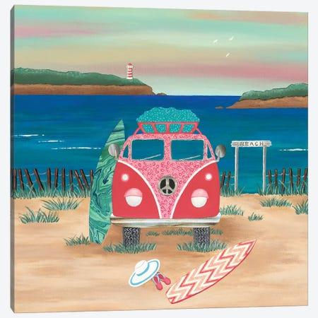 Hippy Van Road Trip  Canvas Print #LJU28} by Lisa Frances Judd Canvas Art Print