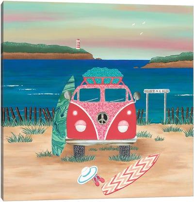 Hippy Van Road Trip  Canvas Art Print