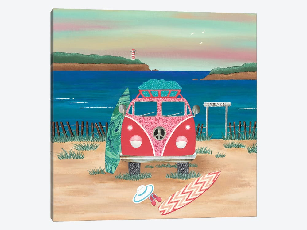 Hippy Van Road Trip  by Lisa Frances Judd 1-piece Canvas Wall Art