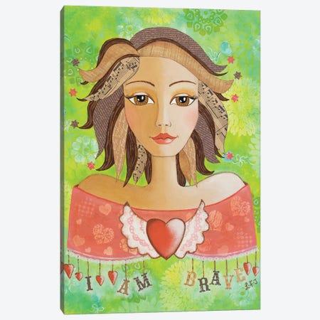 I Am Brave  Canvas Print #LJU29} by Lisa Frances Judd Art Print