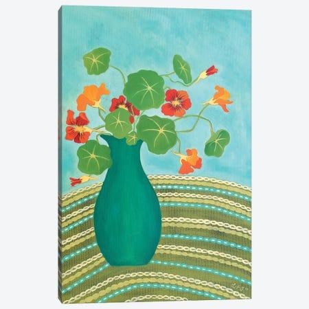 Nana's Nasturtiums  Canvas Print #LJU32} by Lisa Frances Judd Canvas Art
