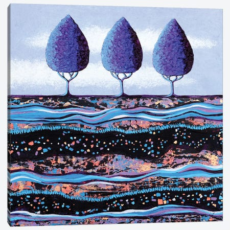 Purple Trees  Canvas Print #LJU37} by Lisa Frances Judd Art Print