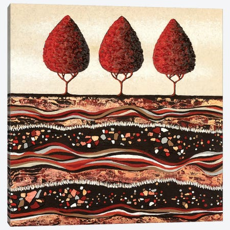 Red Trees  Canvas Print #LJU38} by Lisa Frances Judd Canvas Wall Art