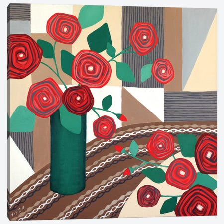 Roses Are Red  3-Piece Canvas #LJU39} by Lisa Frances Judd Canvas Art