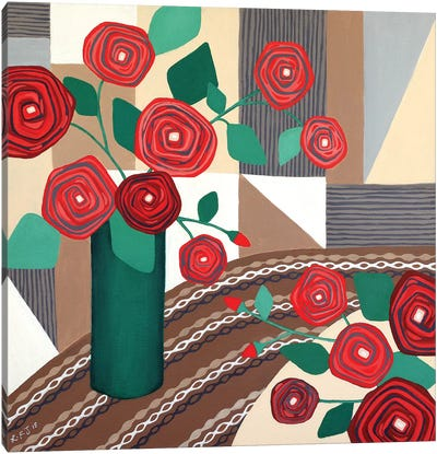 Roses Are Red  Canvas Art Print