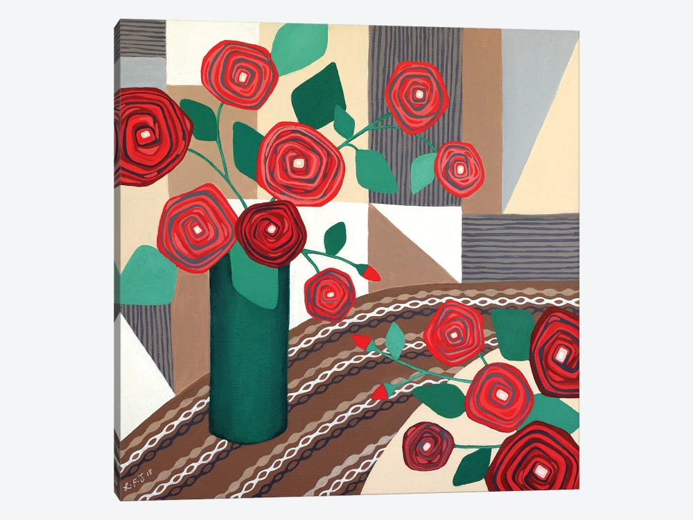 Roses Are Red  by Lisa Frances Judd 1-piece Canvas Wall Art
