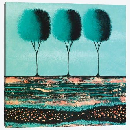 Teal Trees  Canvas Print #LJU48} by Lisa Frances Judd Canvas Print