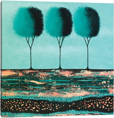 Teal Trees  Canvas Art Print