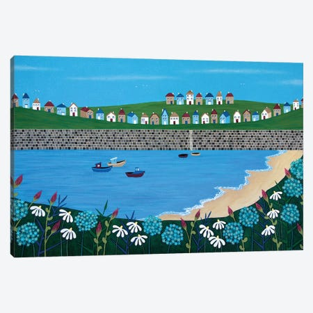 Tiny Town By The Sea  Canvas Print #LJU50} by Lisa Frances Judd Canvas Wall Art