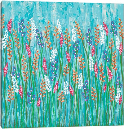 You Belong In The Wild Flowers  Canvas Art Print